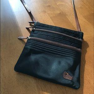 Dooney &Bourke Nylon Triple Zip Crossbody Bag